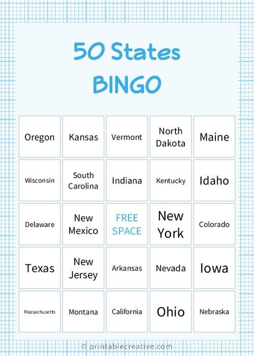 50 States |BINGO
