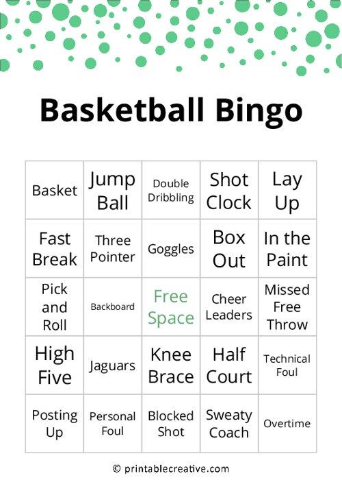 Basketball Bingo