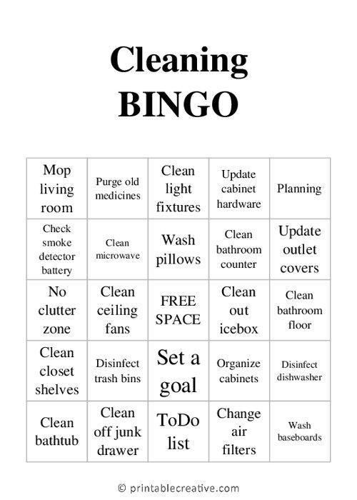 Cleaning| BINGO