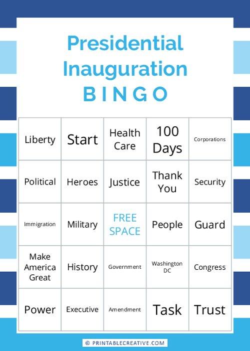 Presidential Inauguration | B I N G O