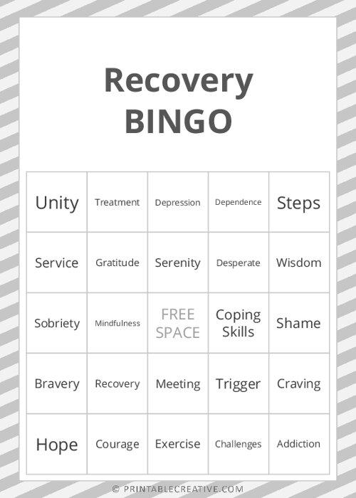 Recovery  BINGO