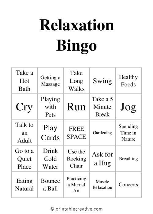 Relaxation |Bingo