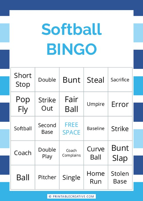 Softball |BINGO