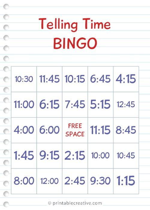 Telling Time |BINGO