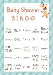 Baby Shower B I N G O