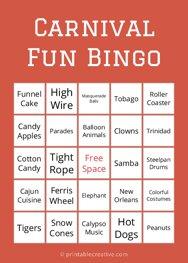 Carnival Fun Bingo