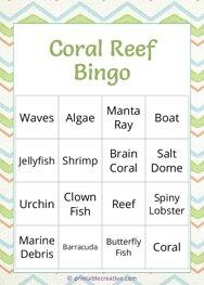 Coral Reef Bingo