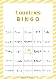Countries |B I N G O