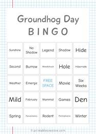 Groundhog Day | B I N G O