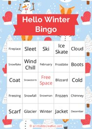 Hello Winter Bingo