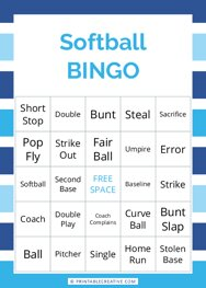 Softball |BINGO
