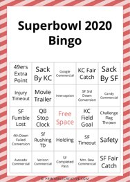 Superbowl 2020 Bingo