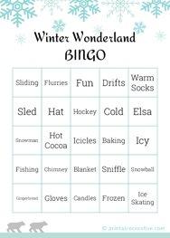 Winter Wonderland BINGO