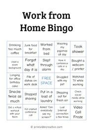 Work from Home Bingo