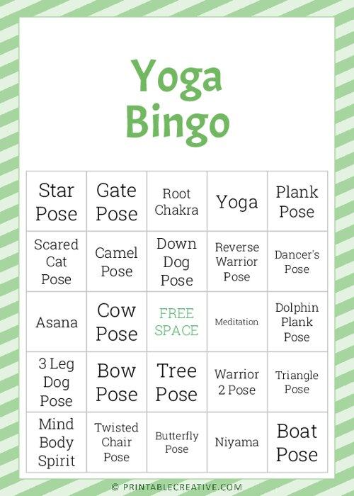 Yoga |Bingo