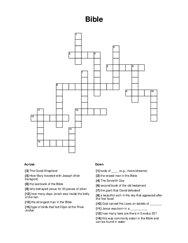 Bible Crossword Puzzle