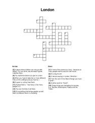 London Crossword Puzzle
