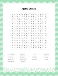 Agatha Christie Word Search Puzzle