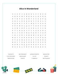 Alice In Wonderland Word Search Puzzle