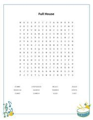 Full House Word Search Puzzle