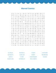 Marvel Comics Word Search Puzzle