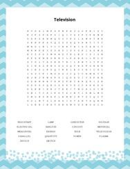 Television Word Search Puzzle