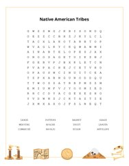 Native American Tribes Word Search Puzzle
