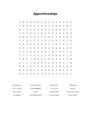 Apprenticeships Word Search Puzzle