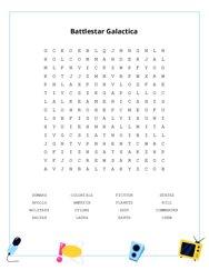 Battlestar Galactica Word Search Puzzle