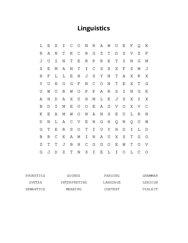 Linguistics Word Search Puzzle