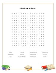 Sherlock Holmes Word Search Puzzle