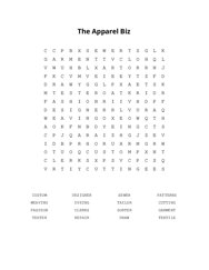The Apparel Biz Word Search Puzzle