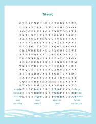 Titanic Word Search Puzzle