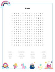 Brave Word Search Puzzle