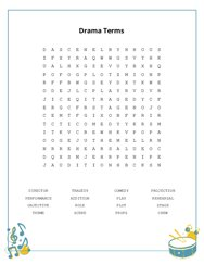 Drama Terms Word Search Puzzle