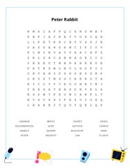 Peter Rabbit Word Search Puzzle