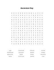 Ascension Day Word Search Puzzle