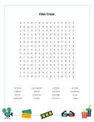 Film Crew Word Search Puzzle
