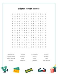 Science Fiction Movies Word Search Puzzle