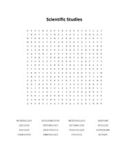 Scientific Studies Word Search Puzzle