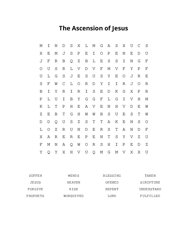The Ascension of Jesus Word Search Puzzle