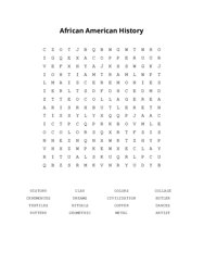 African American History Word Search Puzzle