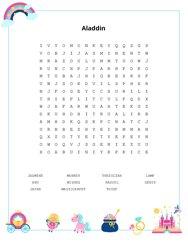 Aladdin Word Search Puzzle
