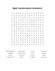 Rigid Transformation Vocabulary Word Search Puzzle