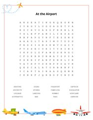 At the Airport Word Search Puzzle