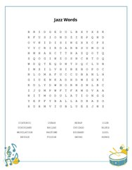 Jazz Words Word Search Puzzle